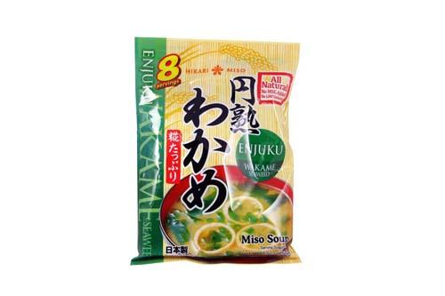 Soupe miso instantanée aux Wakame - Hikari - 8 x 19,5 gr