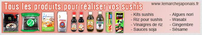 Tous les produits pour vos sushis sur Le Marché Japonais